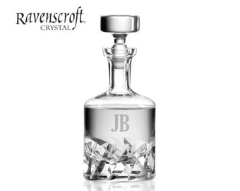 Personalized Beveled Blade Whiskey Decanter