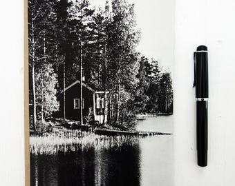 """Notebook """"Skandy Cottage"""" - A5, blank, ecofriendly, handmade + zero waste"""