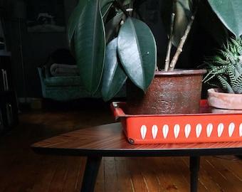 Beautiful Vintage Orange Cathrineholm Lotus Flower Serving Pan