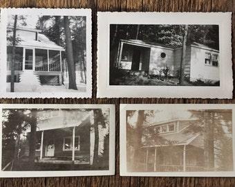 Set of Four Original Vintage Photographs The House Collection