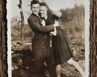 Original Vintage Photograph The Newlyweds