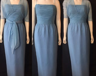 SALE! 1950s chiffon evening dress 1960s