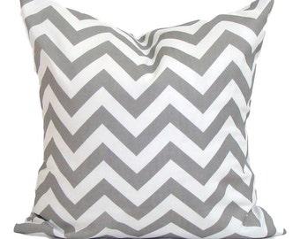 CHEVRON PILLOW.16, 18 or 20 inch.Pillow Cover.Gray Pillows.Gray Pillow Cover..Gray Chevron Pillow.Grey Cushion.ZigZag.Chevron.Cm.Grey.Gray