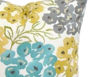 FLORAL PILLOW Sale.12x16 or 12x18 inch.Floral Lumbar Pillow. Teal Pillow. Gold Pillow. Flowers. Floral Cushion Cover. Floral Lumbar PIllow