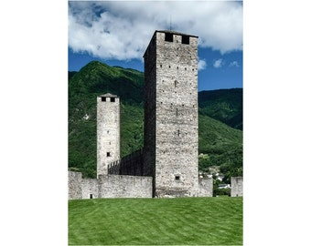 the towers of Castelgrande, Bellinzona — limited edition archival print
