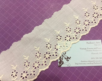 1 yard of 3 inch Ivory Eyelet lace trim for sewing, costume, bridal, baby, housewares, couture by MarlenesAttic - Item 4RR