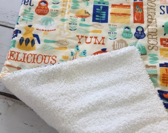 Cottage Chic Dish drying mat, Farm house decor, Shabby Chic linens , dish mat, tea towel