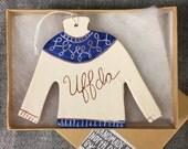 Uffda Christmas Sweater Ornament