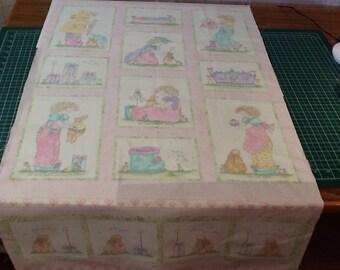Princess and Rabbit - Fabric Panel