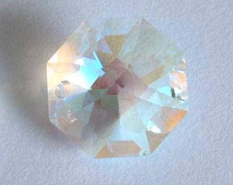 4 SWAROVSKI 8115 Octagon Crystal Beads 14mm CRYSTAL AB