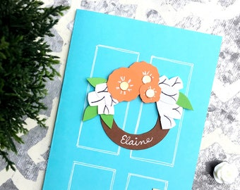 """New Home Card - Personalized Card """"Door Decor"""""""
