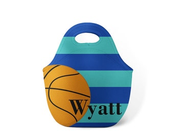Personalized Lunch Tote - Basketball - Custom Lunch tote for Children