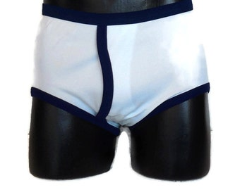 DEADSTOCK Men's Underwear 1970s Unworn Lt Blue Nylon Briefs Schiesser men-fit Ban Lon NIP German Hipster sz 5 S