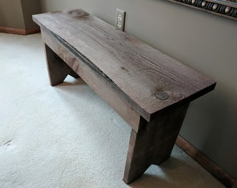 Rustic Wood Bench Kids Size Great For Entryway Or Bedroom