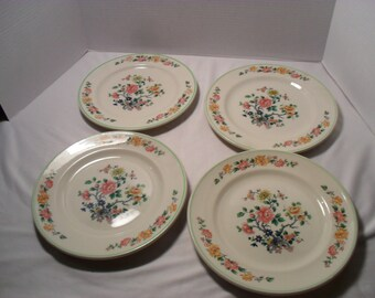 Mayer China Vintage Plates Lawson Pattern Lot of 7