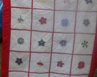 Flowered Lap Quilt