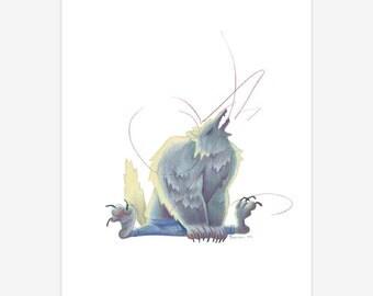 Werewolf Mythical Creature Print A5
