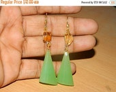 20%off. Earring-Natural Citrine Earring-Apple Green Chalcedony Earring-faceted Earring-Gemstone earring-Natural Beads