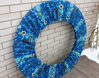Blue Sweet Pea Floral Hula Hoop Bag, Hula Hoop Huggie Storage Bag Hoop Cover Hoop Holder Hooping Accessory Womens Gift for Her, Gift Ideas