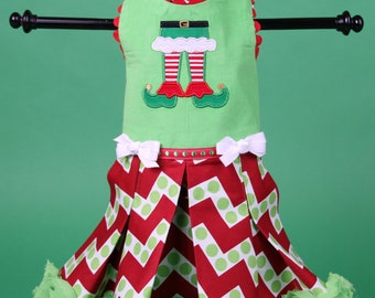 CHRISTMAS:  Elf Magic Dog Dress