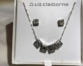 NOEL Vintage Liz Claiborne Necklace and Earring Set