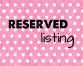 RESERVed for Nancy Robles