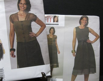 Size SM to XL, Vogue 1139 and 1140, lovely oordinating top, skirt and obi patterns, Sanda Betzina, Today's Fit, 2009 NOS, complete, uncut