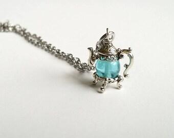 Delicate Teapot Necklace - Tiny Necklace - Teapot