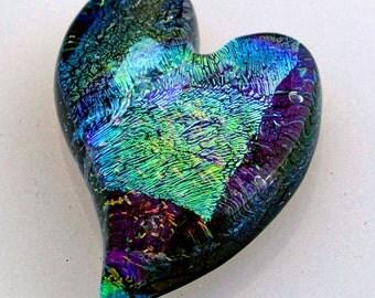 Glass Heart Cabochon, Heart Cabochon, Glass Heart Cabochon Tile, Mosaic Tile