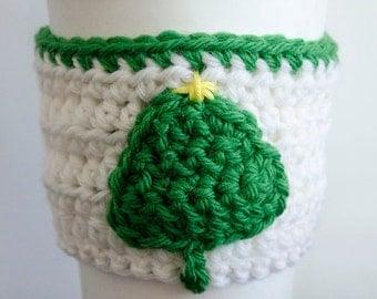 Little Tree Coffee Cup Cozy - Crochet Pattern
