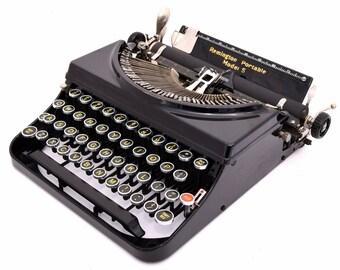 Remington Portable Model No.5 Typewriter Professionally Refurbished w/Two New Ribbons & New Platen