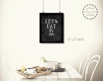 Let's Eat In Poster