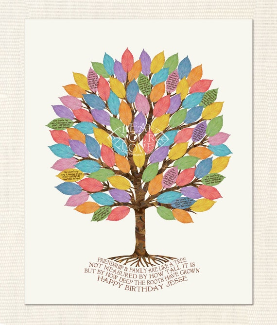 60th Birthday Gift Idea Leaf A Note On The