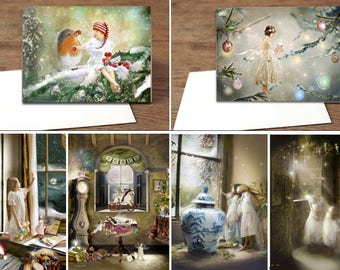 Set of x 10 A5 Christmas cards  cards - Pick and mix . Any from the above  pictures-  Scroll along to see all