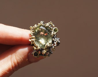 Unique Jewelry Natural Green Amethyst