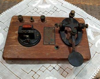 Vintage / Antique Morse Code Key Tapper / Telegraph Key / Signal Electric MFG CO / Maritime Equipment / Aid / SOS  / Distress Signal