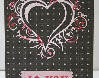 Ooak Love card with envelope for male or female