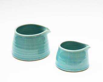 Set of 2 Jugs  - Pale Turquoise Blue