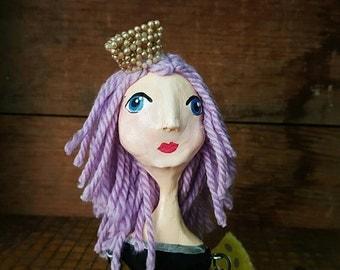 Susanna Joy OOAK paperclay hinged Art Doll