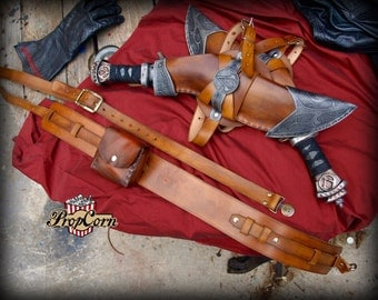 ASSASIN SYNDICATE Kukri sword set, leg sheaths and two belt kit for COSTUME or cosplay
