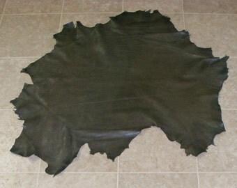 YVA6939-11) Hide of Earth Green Lambskin Leather Skin