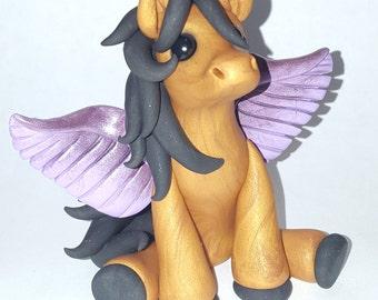Polymer clay pegasus horse pony