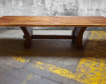Large slab dining table
