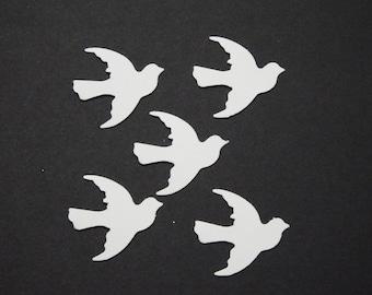 50 White Doves 1 inch,Embellishments,Confetti,Christening,Invitations,Wedding,Anniversary
