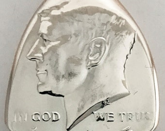 Coin Guitar Pick 1965 Silver Kennedy Half Dollar