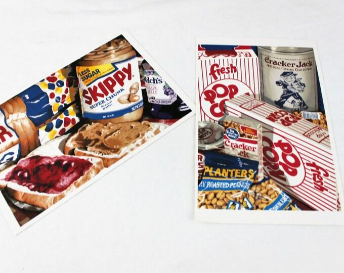 Two PopArt Prints by Jaclyn Garlock: Peanut Butter & Jelly and Cracker Jack/Popcorn/Peanuts