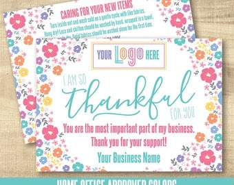 LuLa Thank You Care Cards, LLR Care Cards, Happiness Policy, HO approved colors, LuLa Marketing Roe, LLR Marketing, floral bright