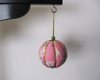 SALE,20%OFF, Ornament ,silk kimono fabric,kimokomi ball