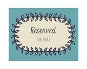 RESERVED for Mary - 11x14 Custom Papercut (Second Payment) - Orchid Floral Border with custom text