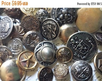 ON SALE 20 Vintage Metal Buttons | Grab Bag Lot